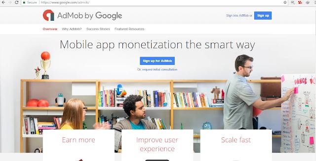 2 Langkah Mudah Mendaftar Layanan Google Admob (Ads Mobile)